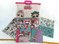 LOL Surprise Lot of 6  Arts Crafts Scrapbook Stickers Carry Tote Handbag Case