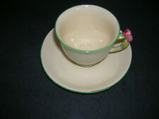Royal Winton Grimwades England Demitasse Cup Saucer Tiger Lilly Handle Yellow