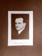 Stampa del 1923 Nello Tarchiani Collaboratore dell'Illustrazione Italiana