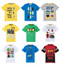 Boys Kids Official Various Lego Mario Short Sleeve T Tee Shirt Top 4 - 12 Years