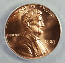 1985 ANACS MS68RD SUPERB GEM BU LINCOLN CENT 1 OF 7 NONE BETTER 6187534