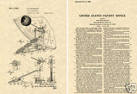 LUDWIG SPEED KING BASS DRUM PEDAL Patent Art Print READY TO FRAME!!! twin spring