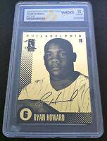 RYAN HOWARD 2004 LIMITED EDITION 23 KT GOLD WCG GEM-MT 10 ROOKIE CARD! N.L. MVP!