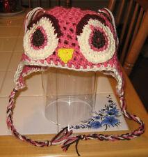 Crocheted Adult Owl Beanie, Handmade and Brand New!