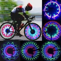 32 LED Flashing Light Bicycle Bike Tyre Tire Wheel Valve Spoke Cap Bright Lamp