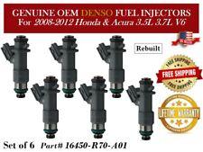 6 Fuel Injectors OEM DENSO for 2008-2012 Honda & Acura 3.5L 3.7L V6