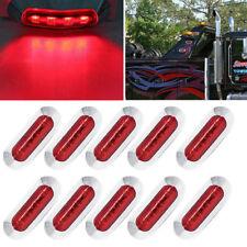10X Red LED Side Marker Clearance Lights Indicators Trailer Truck Boat 12V 24V