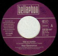 Vinyl Single : New Generation - Viel zu schön / Zeig mir dein Gefühl H189