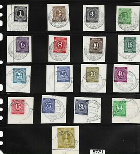 Cologne Cancelled 1946 Stamps / Post Third Reich Germany / U.S. & British Zone