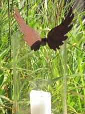 hohe Edelrost Engelsflügel zum Einhängen Metall Dekoengel Windlichtdeko