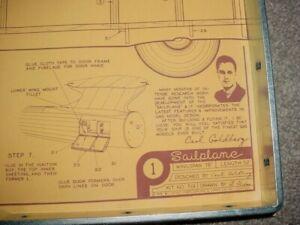 1946 Carl Goldberg Sailplane Full Size Balsa Model Airplane Kit COPY Plans