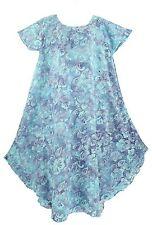 Blue Women Batik Caftan Tunic Tank Long Dress Cover Up Plus Sz XL 16