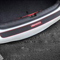Universal Car Rear Guard Bumper Scratch Protector Cover w/ Red Sport logo Decor.
