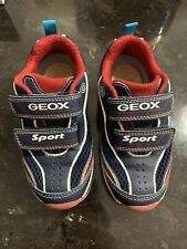 Geox Boys Toddler Sneaker Navy Blue Red Android Light-up Euro Size 26 US Size 9