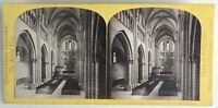 Cattedrale St.Pierre Geneve Suisse Foto W.Inghilterra Stereo Vintage Albumina