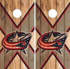 Columbus Blue Jackets Cornhole Wrap NHL Skin Game Board Set Vinyl Decal CO26