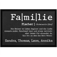 Fußmatte mit Namen Definition Familie personalisierbar mit Vornamen und