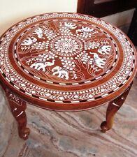 Elefant geschnitzten Intarsien Arbeit Kaffee Round Table Palisander Faltbare