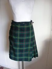 Vintage womans Scottish Tartan Kilt wool short skirt 1950s waist 28 inches