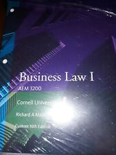 Business Law I  AEM 3200  Cornell Univer  R Mann  B  Roberts Never used 16th Ed