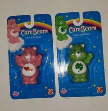 "Care Bears lot of 2 Love A Lot Bear & Good Luck Bear 2.5"" Figures New 2004"