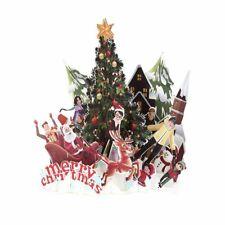 3D Merry Christmas Postcard Thanksgiving Hollow Engraving Handmade Greeting Card