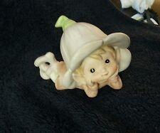 Vintage Homco Flower Garden Fairy~Elf~Pixie Porcelain Figurine~5615 {Euc}