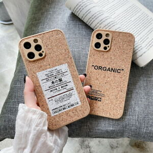 Soft Case For iPhone 12 Pro Max 11 XS XR X 8 7 Plus Creative Wood Texture Cover