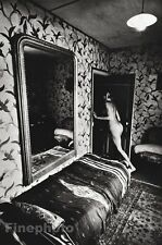 1975 Vintage JEANLOUP SIEFF Female Nude Braids Mirror France Photo Art 11x14