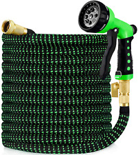 """Garden Hose, All New 2020 Expandable Water Hose with 3/4"""" Solid Brass Fittings"""