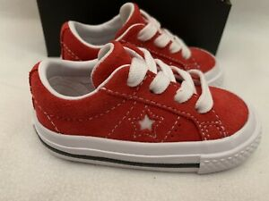 Converse One Star OX Red/White Infant Shoes Us Size 4