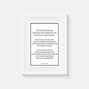 Pulp Fiction, print, poster, quentin tarantino, quote, wall art, gift, picture