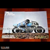 PATRICK PONS sur YAMAHA TZ 250 en 1977 - Poster Pilote Moto #PM1392