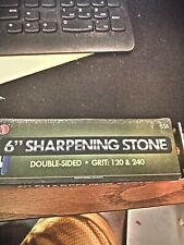 """6"""" aluminum oxide sharpening stone, dual grit 120/240, free shipping"""