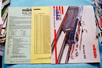 Marklin Retail Price Guide 1/1/91 , 1992 New Items