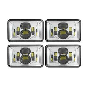"4PCS DOT 220W 4x6"" Inch LED Headlight Set for Toyota Landcruiser 61 62 80 Series"