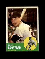 1963 Topps Baseball #61 Ernie Bowman (Giants) NM