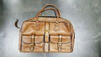 VINTAGE LEATHER CARRY ON WEEKEND  LUGGAGE BAG