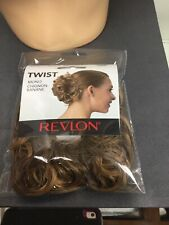 REVLON TWIST Curly Synthetic Hair Wrap Scrunchie Hairpiece, Frosted, Blonde