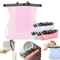 Reusable Friendly Silicone Food Storage Bags   Freezer and Fridge Storage   Pink