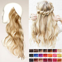 Hidden Wave Hair Secret Invisible Wire Headband Crown Human Hair Extensions 80G
