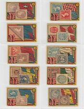 Peru Roldan- Flags and Stamps x 10 Cards (Lot 3)