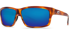Costa Del Mar Cut Polarized Honey Tortoise Havana Blue Mirror 580G Glass Lens