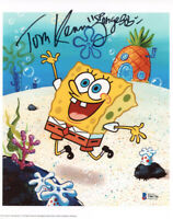 TOM KENNY SIGNED AUTOGRAPHED 8x10 PHOTO VOICE SPONGEBOB SQUAREPANTS BECKETT BAS