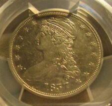 1837 Capped Bust Half Dollar with Reeded Edge PCGS XF Detail Cleaned