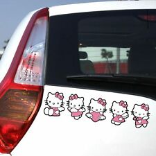 Hello Kitty Pink bow-knot Heart#Angel Window Sticker Car Sticker QP202