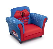 Spider-Man Chair Kids Upholstered Seating Red Comfortable Soft Birthday Gift New