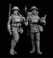 1/35 Resin Figure Model Kit Soldiers WWI 2 Figure Unpainted Unassambled