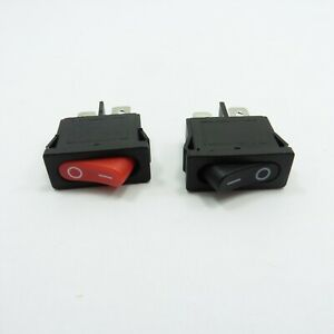 KCD1-101 Rocker Switch ON-OFF AC 6A 250V 10A 250V SPST 2Pin Mount