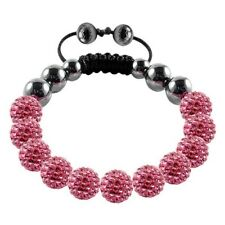Tresor Paris Bracelet, Pink 10mm Crystal Beads With Magnetite, 016845 Rrp £149